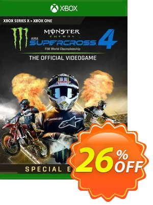 Monster Energy Supercross 4 Special Edition Xbox One (UK) Coupon discount Monster Energy Supercross 4 Special Edition Xbox One (UK) Deal 2021 CDkeys
