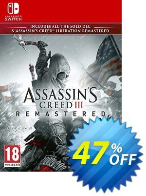 Assassin's Creed III Remastered Switch (EU) discount coupon Assassin's Creed III Remastered Switch (EU) Deal 2021 CDkeys - Assassin's Creed III Remastered Switch (EU) Exclusive Sale offer for iVoicesoft