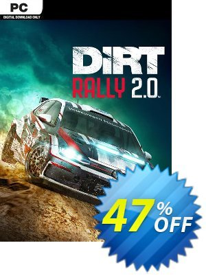 Dirt Rally 2.0 PC 優惠券,折扣碼 Dirt Rally 2.0 PC Deal,促銷代碼: Dirt Rally 2.0 PC Exclusive offer for iVoicesoft