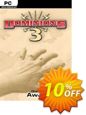 Dominions 3 The Awakening PC 優惠券,折扣碼 Dominions 3 The Awakening PC Deal,促銷代碼: Dominions 3 The Awakening PC Exclusive offer for iVoicesoft