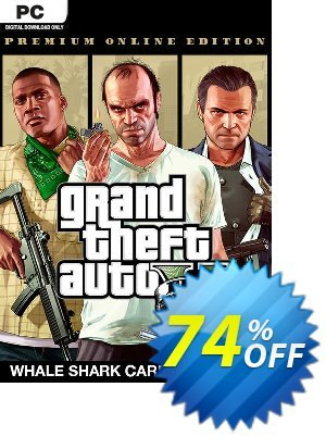 Grand Theft Auto V: Premium Online Edition & Whale Shark Card Bundle PC 優惠券,折扣碼 Grand Theft Auto V: Premium Online Edition & Whale Shark Card Bundle PC Deal,促銷代碼: Grand Theft Auto V: Premium Online Edition & Whale Shark Card Bundle PC Exclusive offer for iVoicesoft