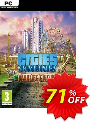 Cities: Skylines - Parklife Edition PC 優惠券,折扣碼 Cities: Skylines - Parklife Edition PC Deal,促銷代碼: Cities: Skylines - Parklife Edition PC Exclusive offer for iVoicesoft