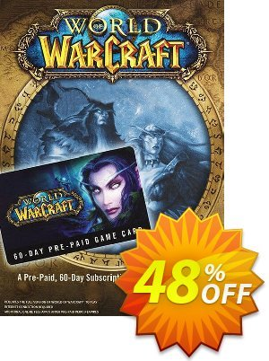 World of Warcraft 60 Day Pre-paid Game Card PC/Mac Coupon, discount World of Warcraft 60 Day Pre-paid Game Card PC/Mac Deal. Promotion: World of Warcraft 60 Day Pre-paid Game Card PC/Mac Exclusive offer for iVoicesoft