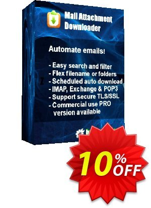 Mail Attachment Downloader PRO Upgrade (6 License Pack) discount coupon Mail Attachment Downloader PRO Upgrade (6 License Pack) Exclusive offer code 2020 - Exclusive offer code of Mail Attachment Downloader PRO Upgrade (6 License Pack) 2020