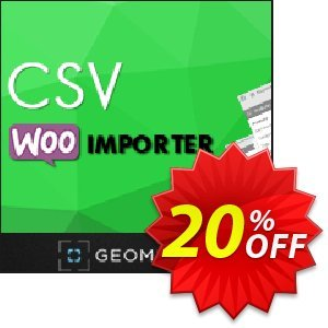 CSV WooImporter (Add-on) Coupon, discount CSV WooImporter. Add-on for WooImporter. Excellent offer code 2020. Promotion: Excellent offer code of CSV WooImporter. Add-on for WooImporter. 2020