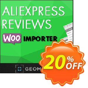 Aliexpress Reviews WooImporter (Add-on) Coupon, discount Aliexpress Reviews WooImporter. Add-on for WooImporter. Wondrous discount code 2020. Promotion: Wondrous discount code of Aliexpress Reviews WooImporter. Add-on for WooImporter. 2020