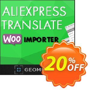 Aliexpress Translate WooImporter (Add-on) Coupon, discount Aliexpress Translate WooImporter. Add-on for WooImporter. Best sales code 2020. Promotion: Best sales code of Aliexpress Translate WooImporter. Add-on for WooImporter. 2020