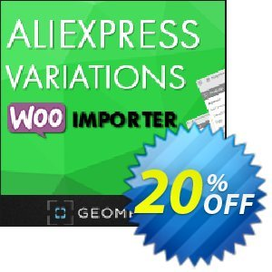 Aliexpress Variations WooImporter (Add-on) Coupon, discount Aliexpress Variations WooImporter. Add-on for WooImporter. Big deals code 2020. Promotion: Big deals code of Aliexpress Variations WooImporter. Add-on for WooImporter. 2020