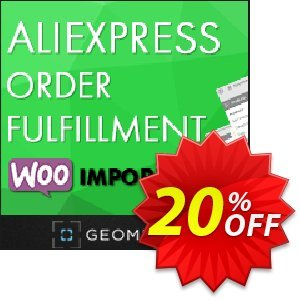 Aliexpress Order Fulfillment WooImporter (Add-on) Coupon, discount Aliexpress Order Fulfillment WooImporter. Add-on for WooImporter. Special discount code 2021. Promotion: Special discount code of Aliexpress Order Fulfillment WooImporter. Add-on for WooImporter. 2021
