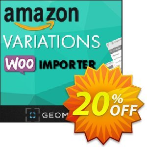 Amazon Variations WooImporter (Add-on) Coupon, discount Amazon Variations WooImporter. Add-on for WooImporter. Stirring sales code 2020. Promotion: Stirring sales code of Amazon Variations WooImporter. Add-on for WooImporter. 2020