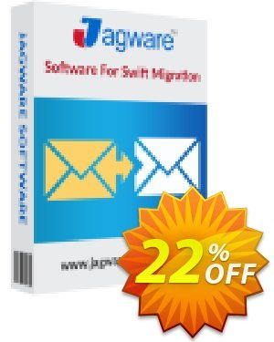 Jagware EML to PST Wizard - Business License 優惠券,折扣碼 Coupon code Jagware EML to PST Wizard - Business License,促銷代碼: Jagware EML to PST Wizard - Business License offer from Jagware Software