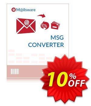 Mailsware MSG Converter discount coupon Coupon code Mailsware MSG Converter - Standard License - Mailsware MSG Converter - Standard License offer from ZOOK Software