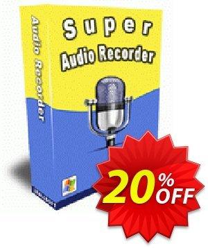 Zeallsoft Super Audio Recorder Coupon, discount Super Audio Recorder Stirring deals code 2021. Promotion: Stirring deals code of Super Audio Recorder 2021