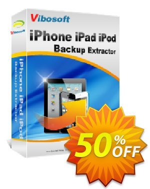 Vibosoft iPhone/iPad/iPod Backup Extractor for Mac Coupon, discount Coupon code Vibosoft iPhone/iPad/iPod Backup Extractor for Mac. Promotion: Vibosoft iPhone/iPad/iPod Backup Extractor for Mac offer from Vibosoft Studio