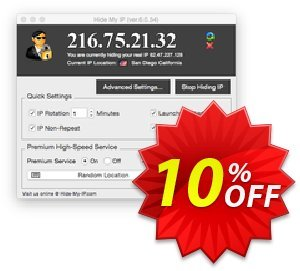 Hide My IP for Mac discount coupon Hide My IP for Mac Exclusive offer code 2021 - Exclusive offer code of Hide My IP for Mac 2021