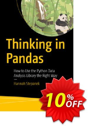 Thinking in Pandas (Stepanek) discount coupon Thinking in Pandas (Stepanek) Deal - Thinking in Pandas (Stepanek) Exclusive Easter Sale offer for iVoicesoft