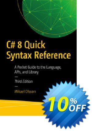 C# 8 Quick Syntax Reference (Olsson) 優惠券,折扣碼 C# 8 Quick Syntax Reference (Olsson) Deal,促銷代碼: C# 8 Quick Syntax Reference (Olsson) Exclusive Easter Sale offer for iVoicesoft