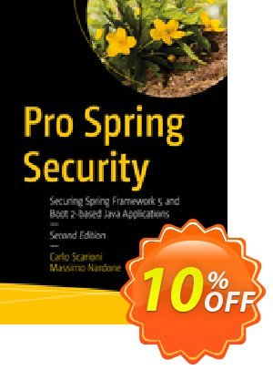 Pro Spring Security (Scarioni) Coupon discount Pro Spring Security (Scarioni) Deal. Promotion: Pro Spring Security (Scarioni) Exclusive Easter Sale offer for iVoicesoft