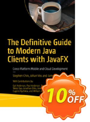 The Definitive Guide to Modern Java Clients with JavaFX (Chin) 프로모션 코드 The Definitive Guide to Modern Java Clients with JavaFX (Chin) Deal 프로모션: The Definitive Guide to Modern Java Clients with JavaFX (Chin) Exclusive Easter Sale offer for iVoicesoft