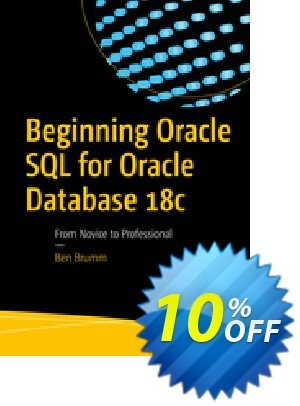 Beginning Oracle SQL for Oracle Database 18c (Brumm) 프로모션 코드 Beginning Oracle SQL for Oracle Database 18c (Brumm) Deal 프로모션: Beginning Oracle SQL for Oracle Database 18c (Brumm) Exclusive Easter Sale offer for iVoicesoft