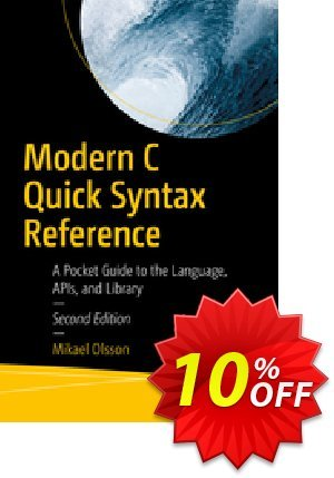 Modern C Quick Syntax Reference (Olsson) discount coupon Modern C Quick Syntax Reference (Olsson) Deal - Modern C Quick Syntax Reference (Olsson) Exclusive Easter Sale offer for iVoicesoft