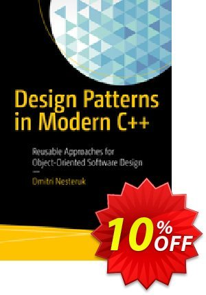 Design Patterns in Modern C++ (Nesteruk) Coupon discount Design Patterns in Modern C++ (Nesteruk) Deal. Promotion: Design Patterns in Modern C++ (Nesteruk) Exclusive Easter Sale offer for iVoicesoft