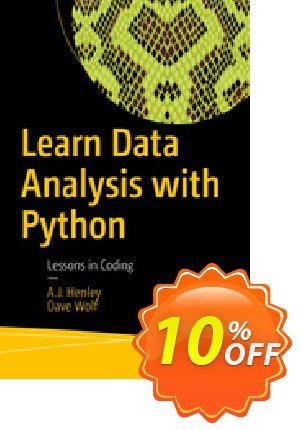 Learn Data Analysis with Python (Henley) Coupon discount Learn Data Analysis with Python (Henley) Deal. Promotion: Learn Data Analysis with Python (Henley) Exclusive Easter Sale offer for iVoicesoft
