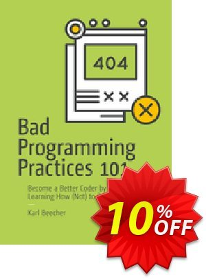 Bad Programming Practices 101 (Beecher) discount coupon Bad Programming Practices 101 (Beecher) Deal - Bad Programming Practices 101 (Beecher) Exclusive Easter Sale offer for iVoicesoft