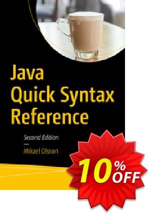 Java Quick Syntax Reference (Olsson) 優惠券,折扣碼 Java Quick Syntax Reference (Olsson) Deal,促銷代碼: Java Quick Syntax Reference (Olsson) Exclusive Easter Sale offer for iVoicesoft