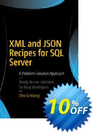 XML and JSON Recipes for SQL Server (Grinberg) discount coupon XML and JSON Recipes for SQL Server (Grinberg) Deal - XML and JSON Recipes for SQL Server (Grinberg) Exclusive Easter Sale offer for iVoicesoft