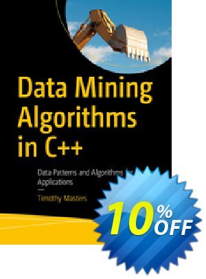 Data Mining Algorithms in C++ (Masters) Coupon discount Data Mining Algorithms in C++ (Masters) Deal. Promotion: Data Mining Algorithms in C++ (Masters) Exclusive Easter Sale offer for iVoicesoft