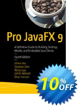Pro JavaFX 9 (Vos) Coupon discount Pro JavaFX 9 (Vos) Deal. Promotion: Pro JavaFX 9 (Vos) Exclusive Easter Sale offer for iVoicesoft