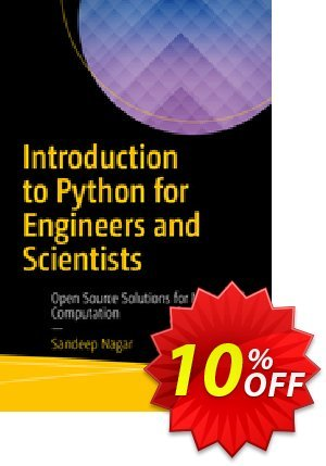 Introduction to Python for Engineers and Scientists (Nagar) Coupon discount Introduction to Python for Engineers and Scientists (Nagar) Deal. Promotion: Introduction to Python for Engineers and Scientists (Nagar) Exclusive Easter Sale offer for iVoicesoft