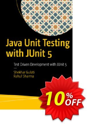 Java Unit Testing with JUnit 5 (Gulati) Coupon discount Java Unit Testing with JUnit 5 (Gulati) Deal. Promotion: Java Unit Testing with JUnit 5 (Gulati) Exclusive Easter Sale offer for iVoicesoft