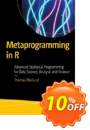 Metaprogramming in R (Mailund) discount coupon Metaprogramming in R (Mailund) Deal - Metaprogramming in R (Mailund) Exclusive Easter Sale offer for iVoicesoft