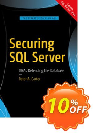 Securing SQL Server (Carter) discount coupon Securing SQL Server (Carter) Deal - Securing SQL Server (Carter) Exclusive Easter Sale offer for iVoicesoft