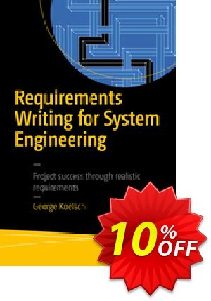 Requirements Writing for System Engineering (Koelsch) 프로모션 코드 Requirements Writing for System Engineering (Koelsch) Deal 프로모션: Requirements Writing for System Engineering (Koelsch) Exclusive Easter Sale offer for iVoicesoft