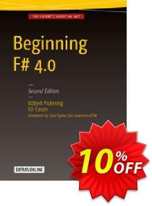 Beginning F# 4.0 (Pickering) Coupon discount Beginning F# 4.0 (Pickering) Deal. Promotion: Beginning F# 4.0 (Pickering) Exclusive Easter Sale offer for iVoicesoft