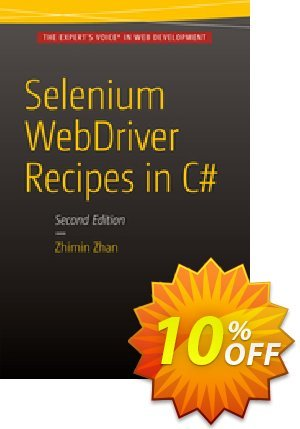 Selenium WebDriver Recipes in C# (Zhan) Coupon discount Selenium WebDriver Recipes in C# (Zhan) Deal. Promotion: Selenium WebDriver Recipes in C# (Zhan) Exclusive Easter Sale offer for iVoicesoft