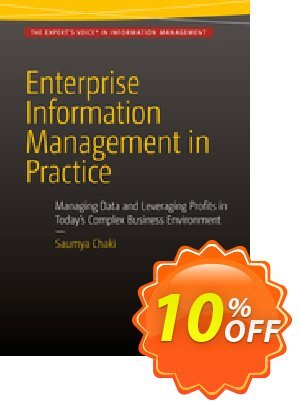 Enterprise Information Management in Practice (Chaki) 프로모션 코드 Enterprise Information Management in Practice (Chaki) Deal 프로모션: Enterprise Information Management in Practice (Chaki) Exclusive Easter Sale offer for iVoicesoft