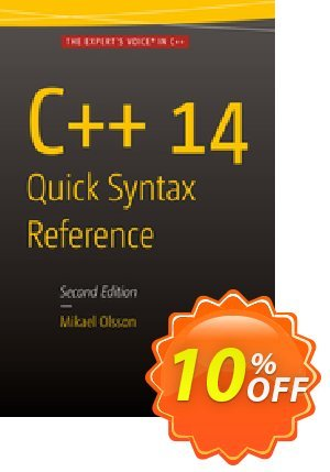 C++ 14 Quick Syntax Reference (Olsson) 프로모션 코드 C++ 14 Quick Syntax Reference (Olsson) Deal 프로모션: C++ 14 Quick Syntax Reference (Olsson) Exclusive Easter Sale offer for iVoicesoft