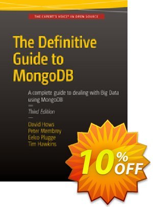 The Definitive Guide to MongoDB (Plugge) discount coupon The Definitive Guide to MongoDB (Plugge) Deal - The Definitive Guide to MongoDB (Plugge) Exclusive Easter Sale offer for iVoicesoft