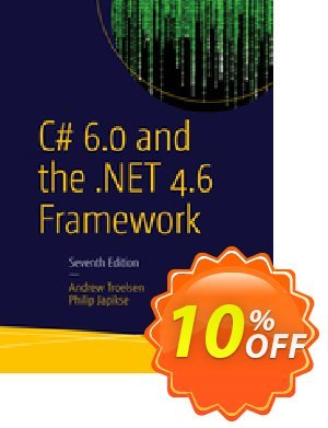 C# 6.0 and the .NET 4.6 Framework (Troelsen) discount coupon C# 6.0 and the .NET 4.6 Framework (Troelsen) Deal - C# 6.0 and the .NET 4.6 Framework (Troelsen) Exclusive Easter Sale offer for iVoicesoft