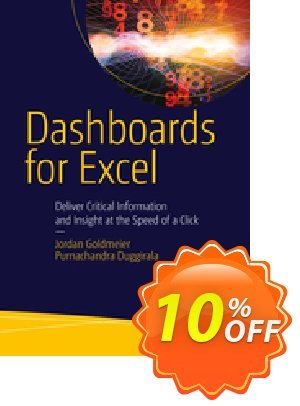 Dashboards for Excel (Goldmeier) Coupon discount Dashboards for Excel (Goldmeier) Deal. Promotion: Dashboards for Excel (Goldmeier) Exclusive Easter Sale offer for iVoicesoft