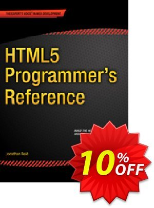 HTML5 Programmer's Reference (Reid) discount coupon HTML5 Programmer's Reference (Reid) Deal - HTML5 Programmer's Reference (Reid) Exclusive Easter Sale offer for iVoicesoft
