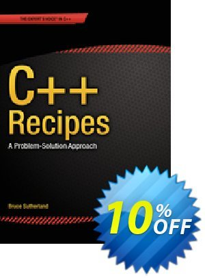 C++ Recipes (Sutherland) discount coupon C++ Recipes (Sutherland) Deal - C++ Recipes (Sutherland) Exclusive Easter Sale offer for iVoicesoft