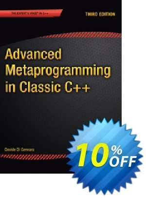 Advanced  Metaprogramming in Classic C++ (Di Gennaro) discount coupon Advanced  Metaprogramming in Classic C++ (Di Gennaro) Deal - Advanced  Metaprogramming in Classic C++ (Di Gennaro) Exclusive Easter Sale offer for iVoicesoft