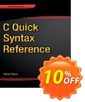 C Quick Syntax Reference (Olsson) discount coupon C Quick Syntax Reference (Olsson) Deal - C Quick Syntax Reference (Olsson) Exclusive Easter Sale offer for iVoicesoft