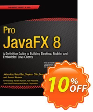 Pro JavaFX 8 (Weaver) 프로모션 코드 Pro JavaFX 8 (Weaver) Deal 프로모션: Pro JavaFX 8 (Weaver) Exclusive Easter Sale offer for iVoicesoft