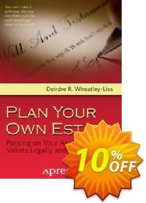 Plan Your Own Estate (Wheatley-Liss) discount coupon Plan Your Own Estate (Wheatley-Liss) Deal - Plan Your Own Estate (Wheatley-Liss) Exclusive Easter Sale offer for iVoicesoft